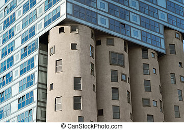 Fragment of the Silo building. Modern Architecture in...