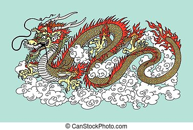 chinese dragon in the sky