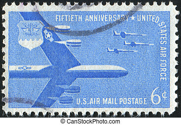 stamp - UNITED STATES - CIRCA 1957: stamp printed by United...