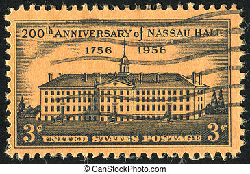 stamp - UNITED STATES - CIRCA 1956: stamp printed by United...