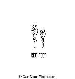 Asparagus hand drawn vector illustration. - Asparagus hand...