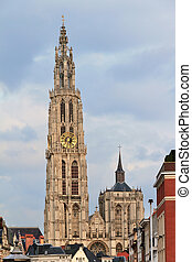 Antwerp tower - Beautiful view of the Cathedral of Our Lady...