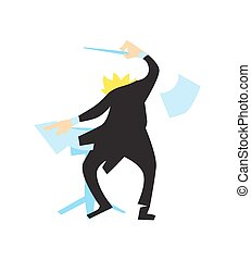 Conductor directing symphony orchestra vector