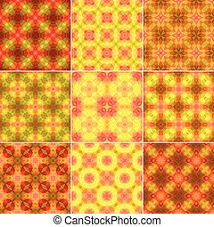 Set of ornamental patterns for backgrounds and textures -...