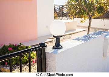 Street lamp outdoor - Street old lamp. an image of street...