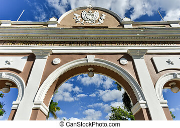 Triumphal Arch - Cienfuegos, Cuba - The Arch of Triumph in...