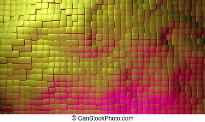 Moving squares in golden color
