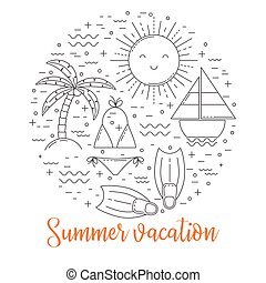 Summer vacation illustration
