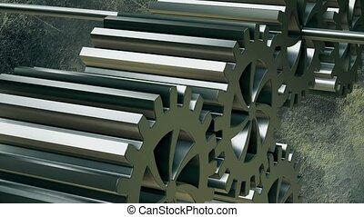 Gears in silver color