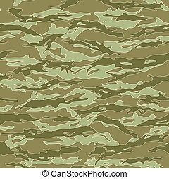 Jungle Tiger stripe Camouflage seamless patterns. Vector...
