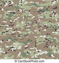 Multicam Camouflage seamless patterns. Military background...