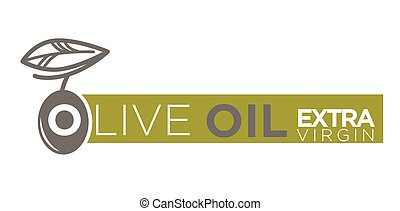Olive oil extra virgin product vector label template