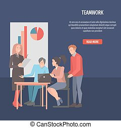 People Resolving Issues on Laptop Teamwork Startup - People...