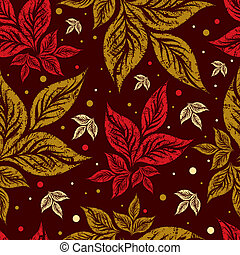 Seamless autumn leaves background.