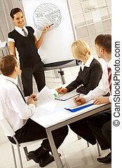 negócio, treinamento