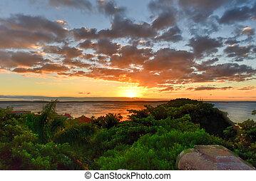 Sunset - Cienfuegos, Cuba - Sunset at Punta Gorda in...