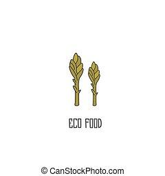 Asparagus hand drawn vector illustration - Asparagus hand...