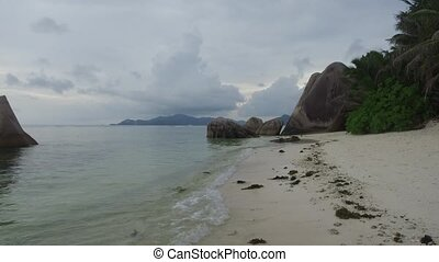 rocks on island beach in indian ocean - travel, seascape and...