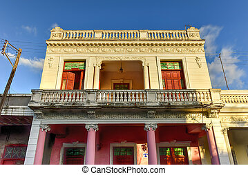 Paseo El Prado - Cienfuegos, Cuba - The main boulevard,...