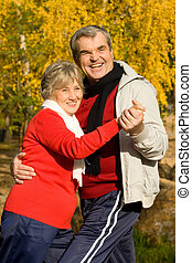 Aged couple - Photo of senior couple spending free time in...
