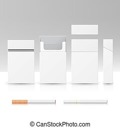 Blank Pack Package Box Of Cigarettes 3D Vector Realistic Illustration