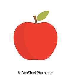 Red apple fruit. Vector illustration