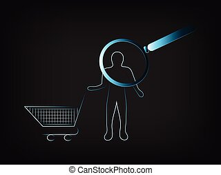 customer with shopping cart under analysis - customer with...