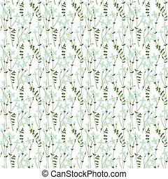 Seamless bluet pattern - Seamless pattern made of...