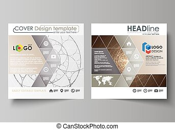 Business templates for square design brochure, magazine,...