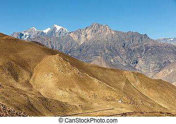 Mountain landscape, Himalayas, Mustang, Nepal
