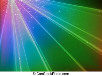 Colorful Disco Light Background - Abstract Illustration,...