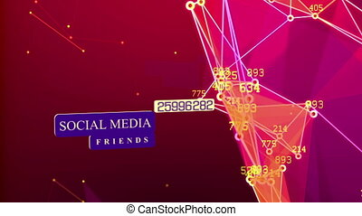 """Social media network concept background"""
