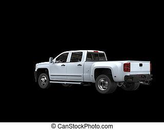 White pickup truck - rear view