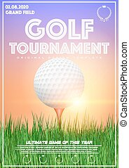 Poster Template of Golf Tournament