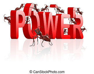 ants building power and strenght