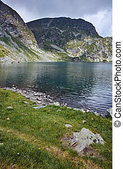 Amazing Landscape of The Kidney lake, The Seven Rila Lakes,...