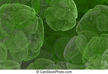 Chlorophyll. Live plant cell - An abstract computer...