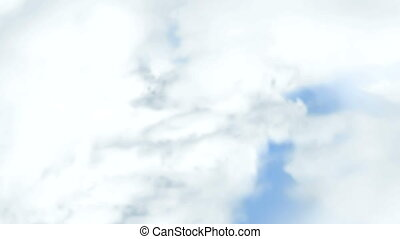 Animation of move passing a clouds in the sky