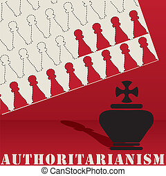 Authoritarianism poster abstract shapes - Post...
