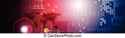 Abstract technology bright web header banner