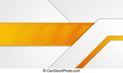Bright orange geometric corporate motion background.