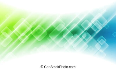 Abstract blue green tech geometric video animation -...
