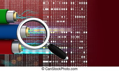 3d hexadecimal code - abstract 3d red background with data...
