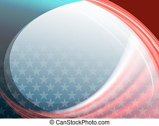 bstract background with a silhouette of the American flag -...