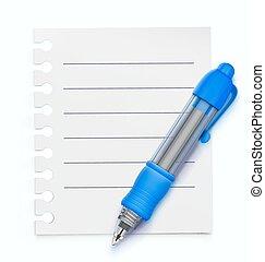 Blue ballpoint pen - Vector illustration of detailed blue...