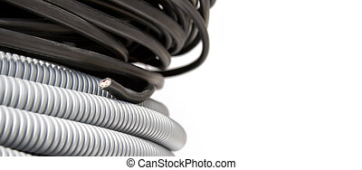 Electric wire and corrugation