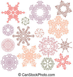 ornamental design elements - set of ornamental design...