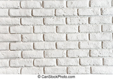 Brick white wall - White brick. City Clay Brick white wall