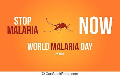 Sign for Malaria Day collection vector illustration