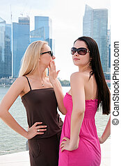 Two beautiful women in Singapore